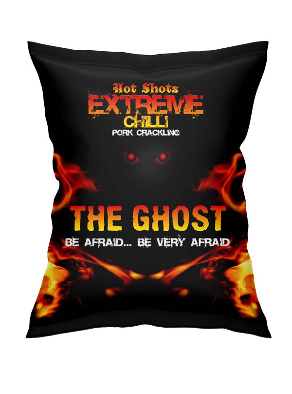 Hot Shots Extreme Chilli Pork Scratchings supplied by Chizbitz  Snackz